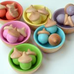 Wooden Acorn Sorting Toys from Bright Life Toys