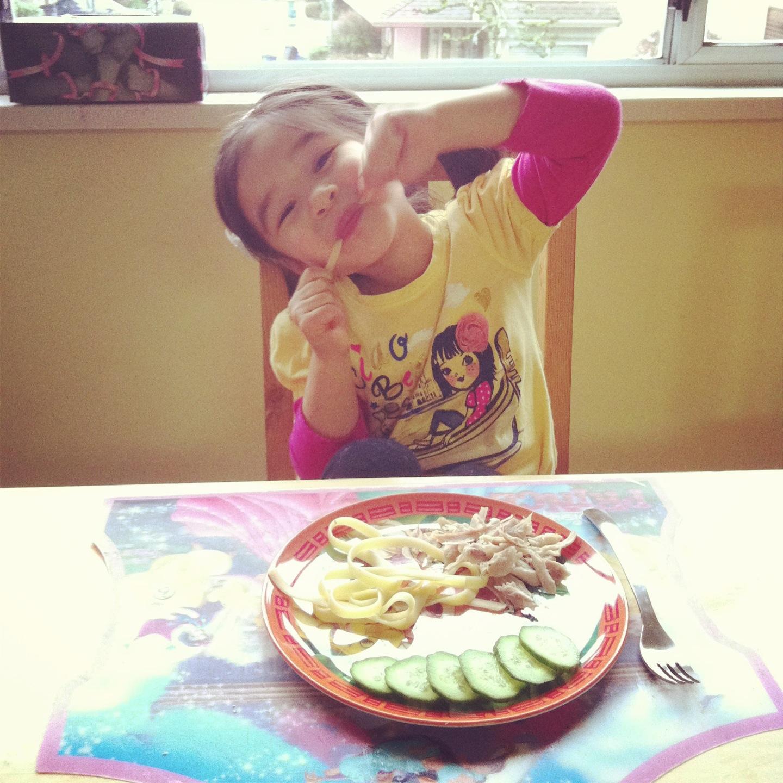 Bella loves dinner