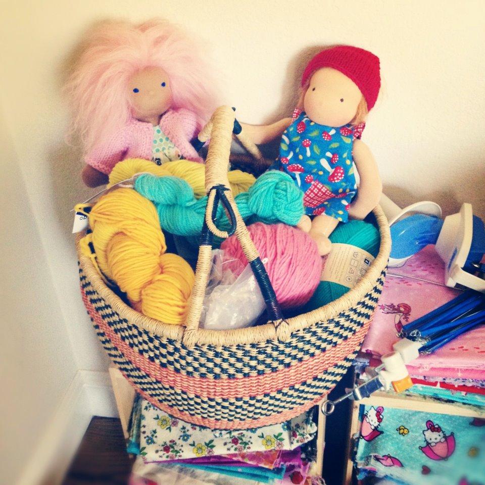 Maizy Moo Yarn and Fabric