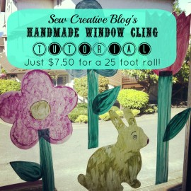 Make a 25 foot roll of window clings for $7.50 A great craft project to do with kids