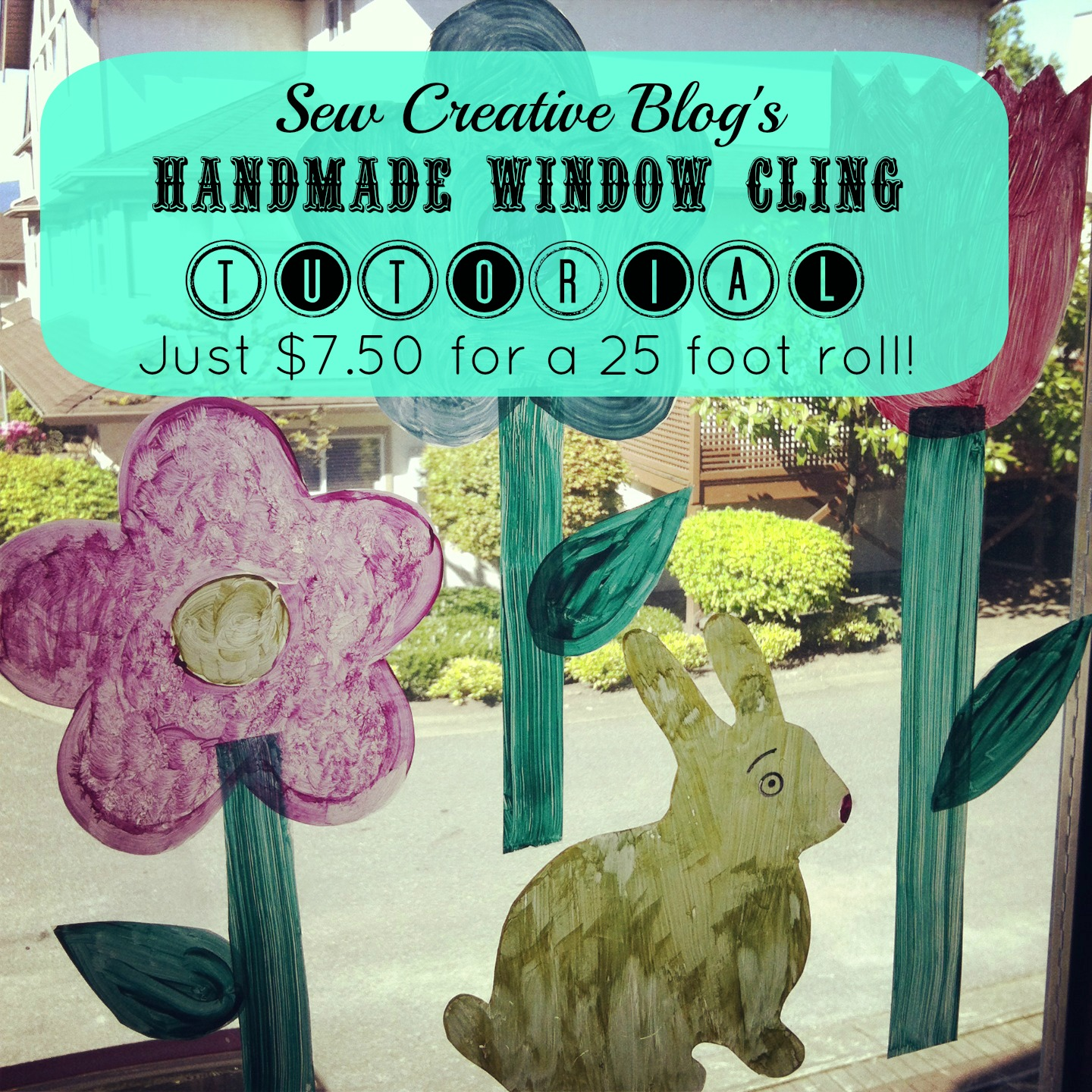 Sew Creatives Make Your Own Window Clings Tutorial Hello - Make your own window decal