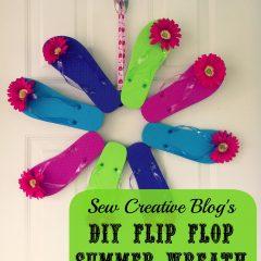 DIY Flip Flop Summer Wreath Front Door Decoration