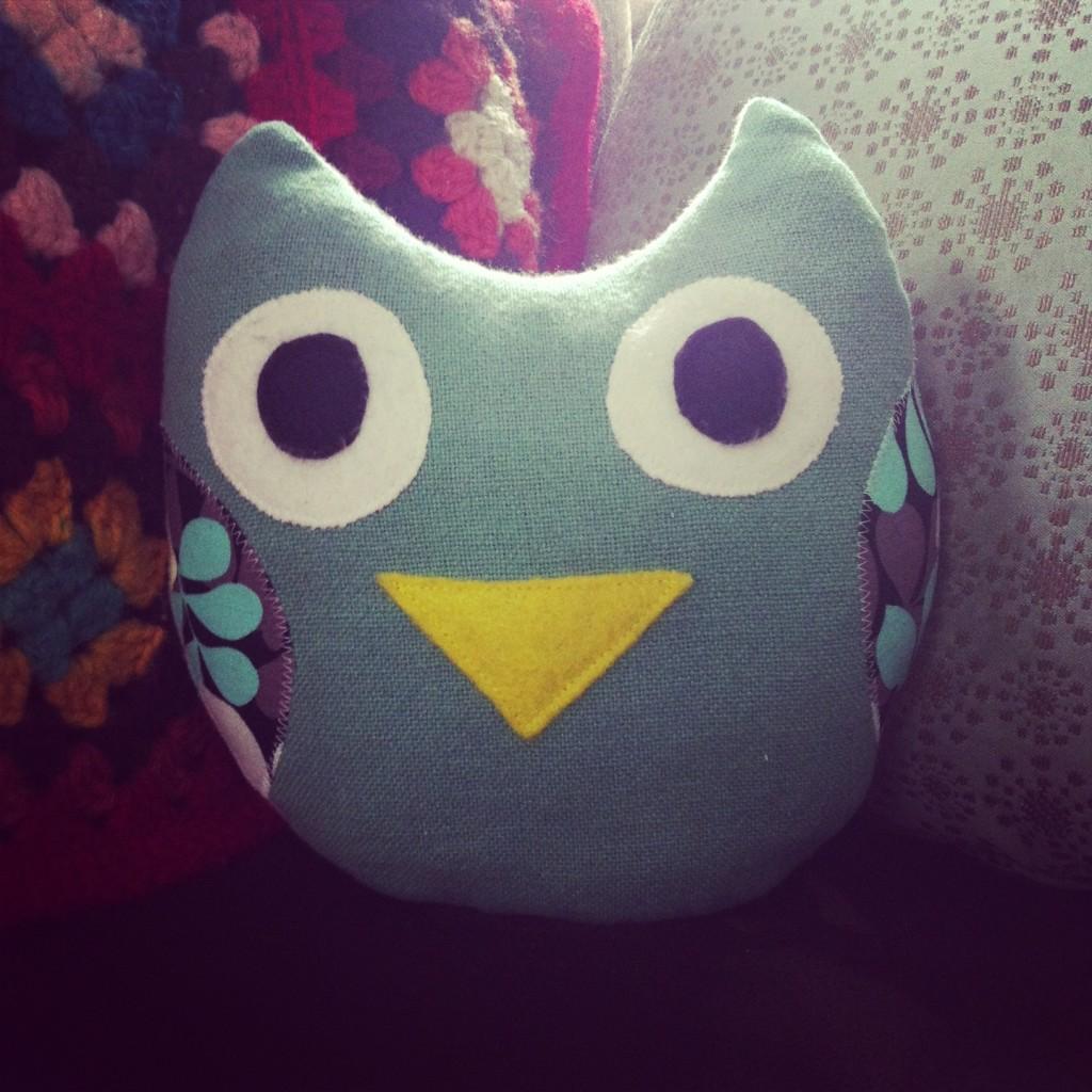 Sew Creative Plush Fabric Scrap Owl