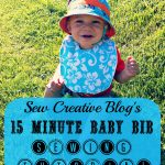 Sew Creative's 15 Minute Baby Bib Sewing Tutorial 1