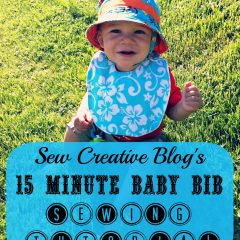 Sew Creative's 15 Minute Baby Bib Sewing Tutorial