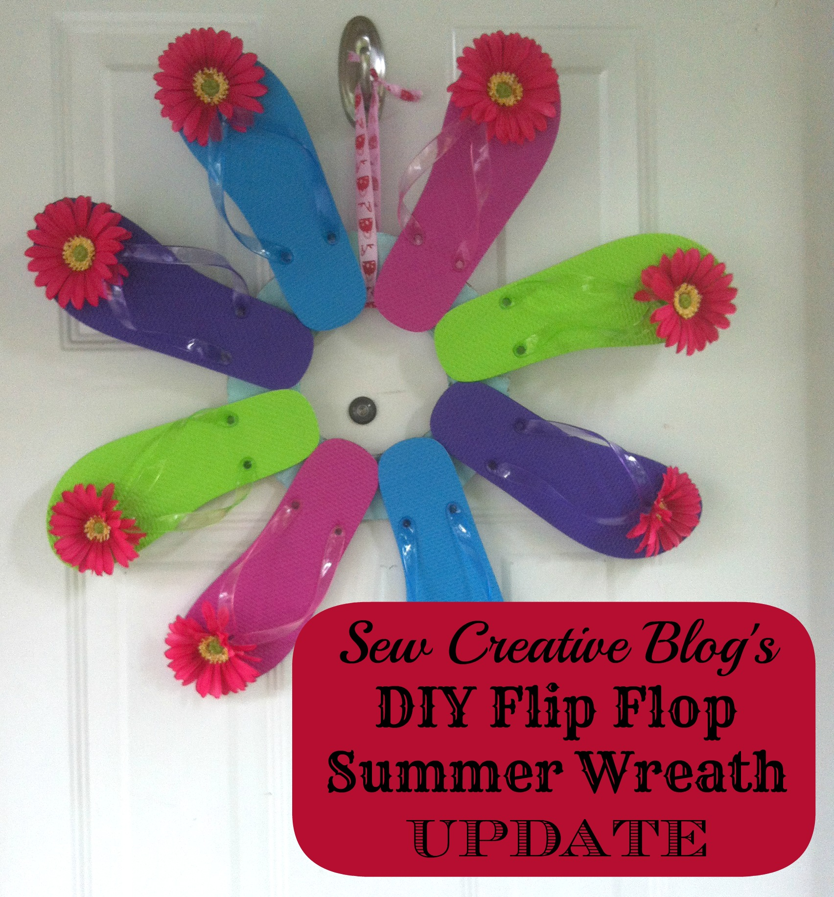 front door decor summerDIY Flip Flop Summer Wreath UPDATE  Hello Creative Family