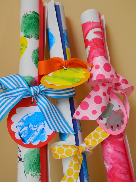 DIY Wrapping Paper Kids Craft