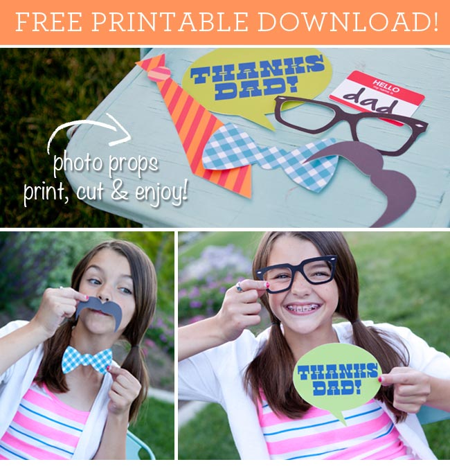 Father's Day Printable Photo Props