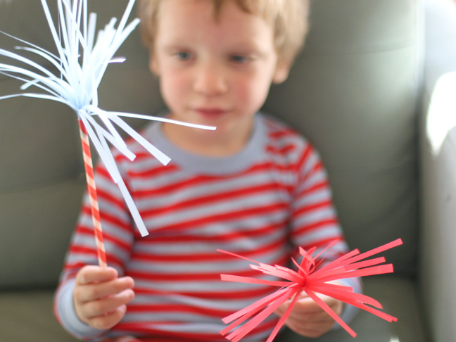 Fourth of July Paper Sparklers