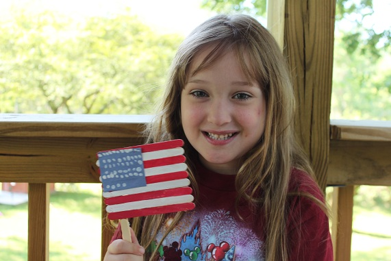 Fourth of July Popsicle Stick Flag