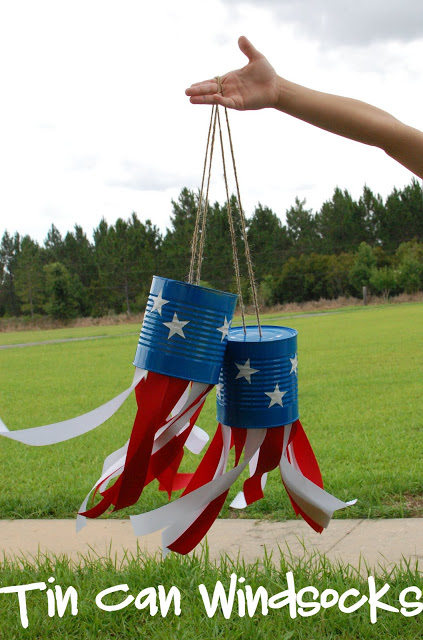Fourth of July Tin Can Windsocks