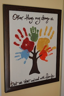 Handprint Family Tree Father's Day Kids Craft Gift Idea