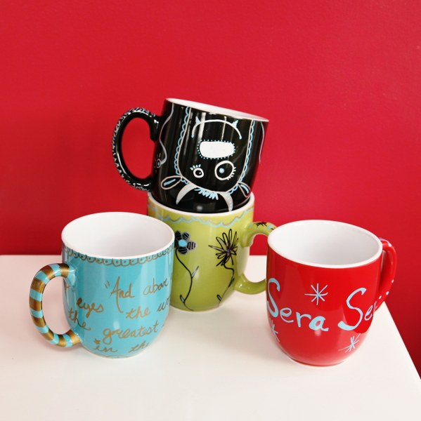 Have kids decorate mugs with sharpies then bake at 350 for 15 minutes for Father's Day gift