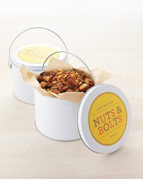 Have kids help make this yummy Nuts and Bolts recipe for the perfect Father's Day Gift