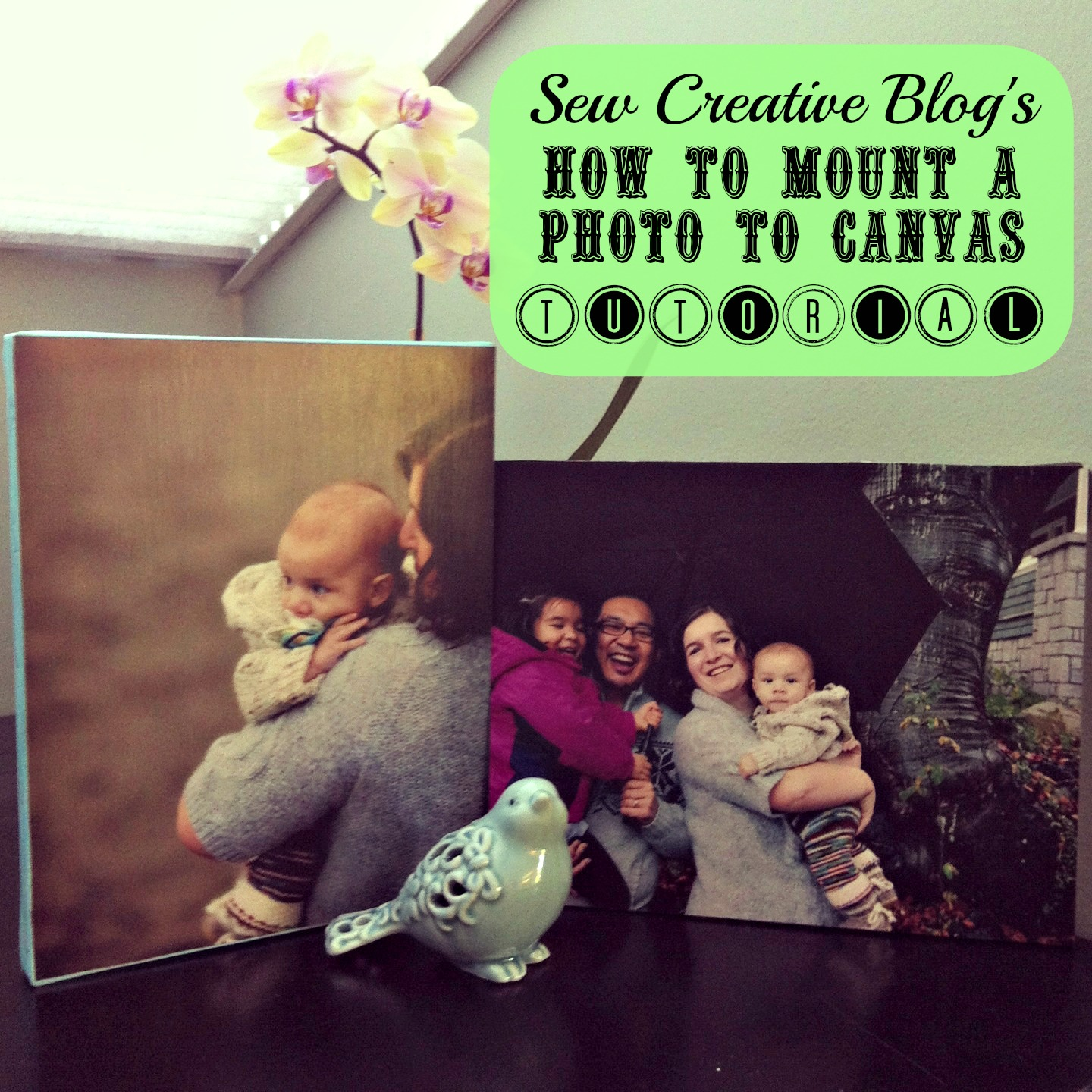 How to mount a photo to canvas tutorial A great handmade gift for under $5.00
