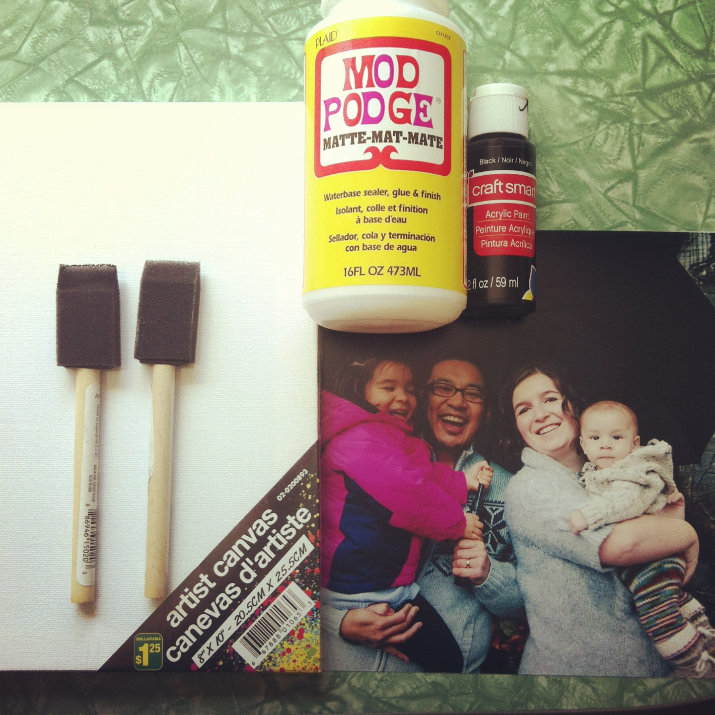 Mounting photo to canvas tutorial A great handmade gift for under $5.00 10