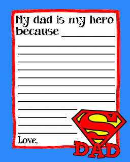 My Dad is My Hero Superman Questionaire