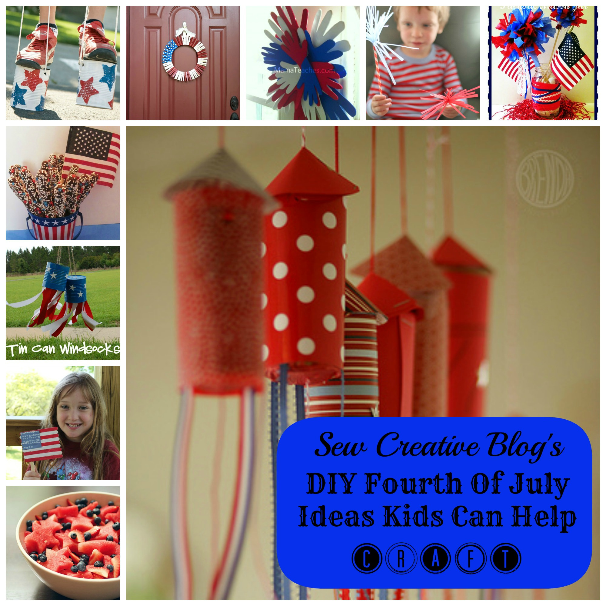 Sew Creative Blog's DIY Fourth Of July Ideas Kids Can Help Craft