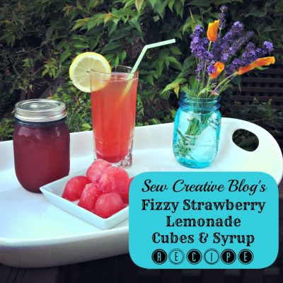 Fizzy Strawberry Lemonade Cubes & Syrup Recipe
