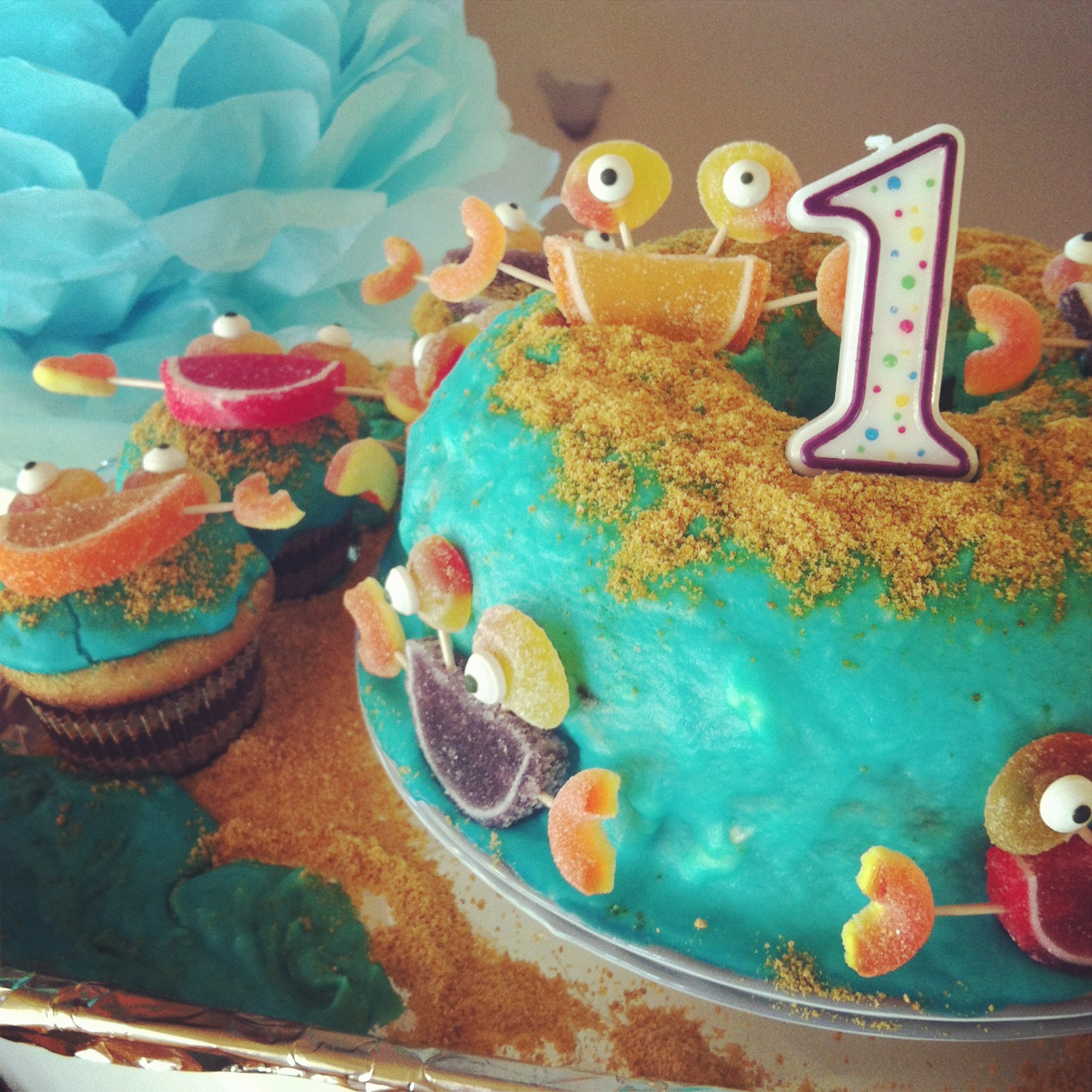 Crab Ocean Themed Birthday Cake