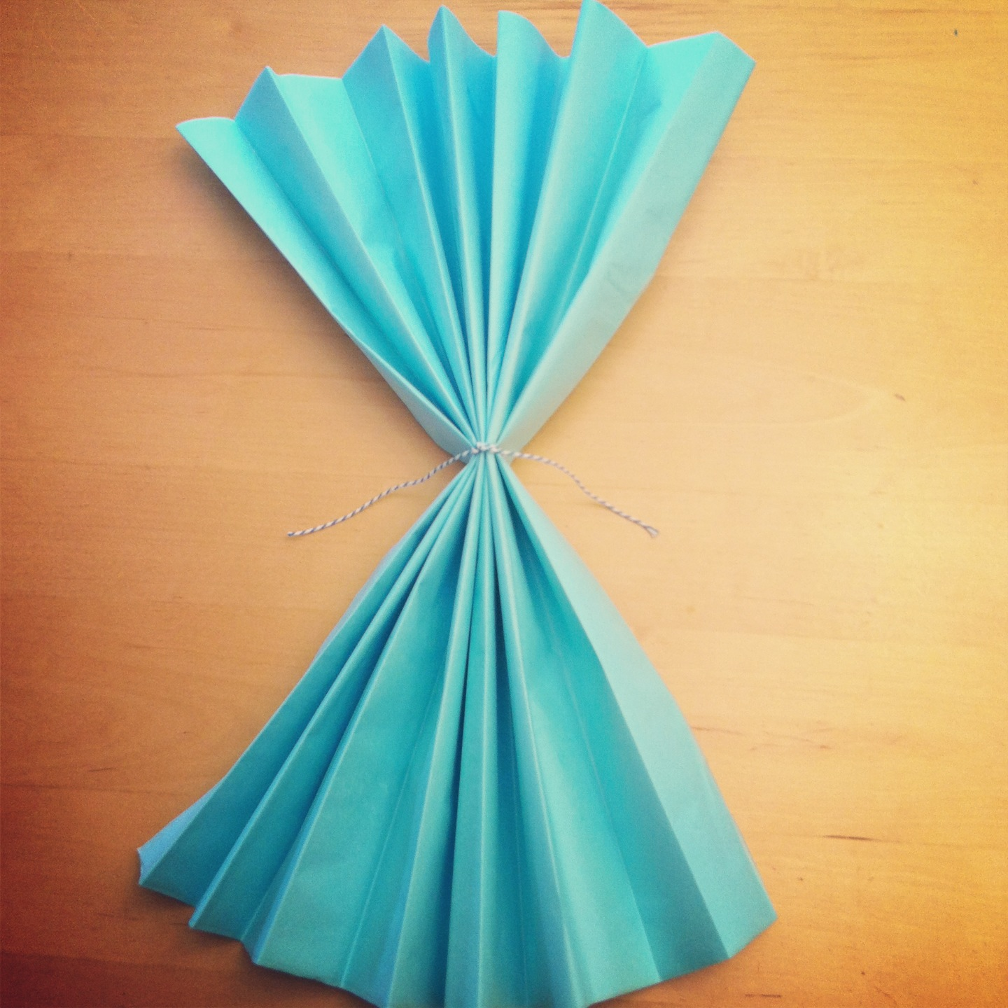DIY Giant Tissue Paper Flowers Tutorial 2 for $1.00 Make Beautiful Birthday Party Decorations Step 4