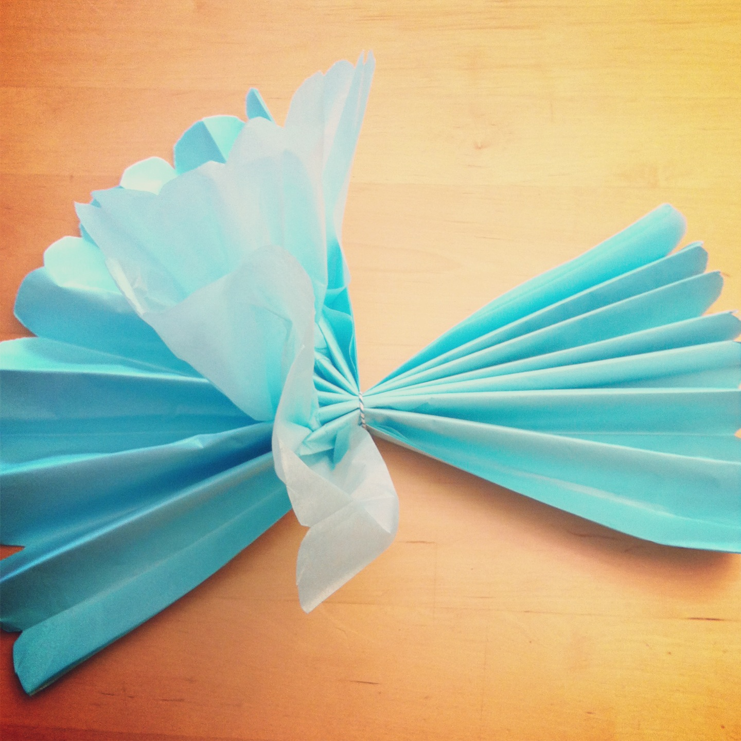 DIY Giant Tissue Paper Flowers Tutorial 2 for $1.00 Make Beautiful Birthday Party Decorations Step 6