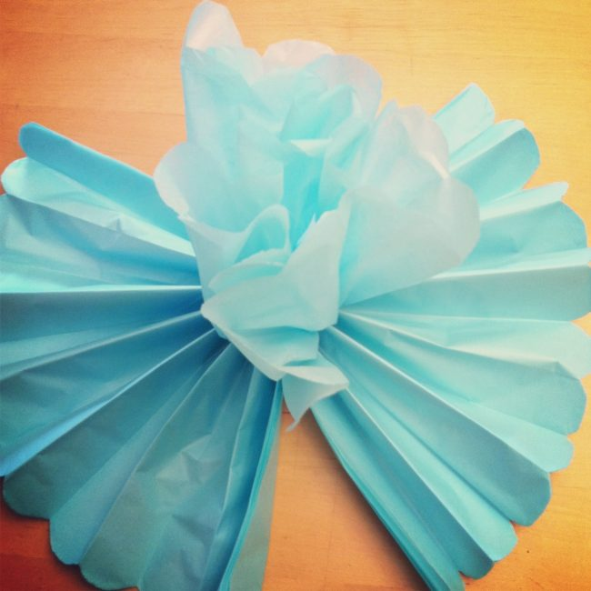DIY Giant Tissue Paper Flowers Tutorial 2 for $1.00 Make Beautiful Birthday Party Decorations Step 7