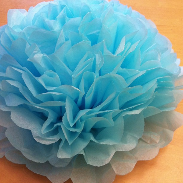 DIY Giant Tissue Paper Flowers Tutorial 2 for $1.00 Make Beautiful Birthday Party Decorations Step 9