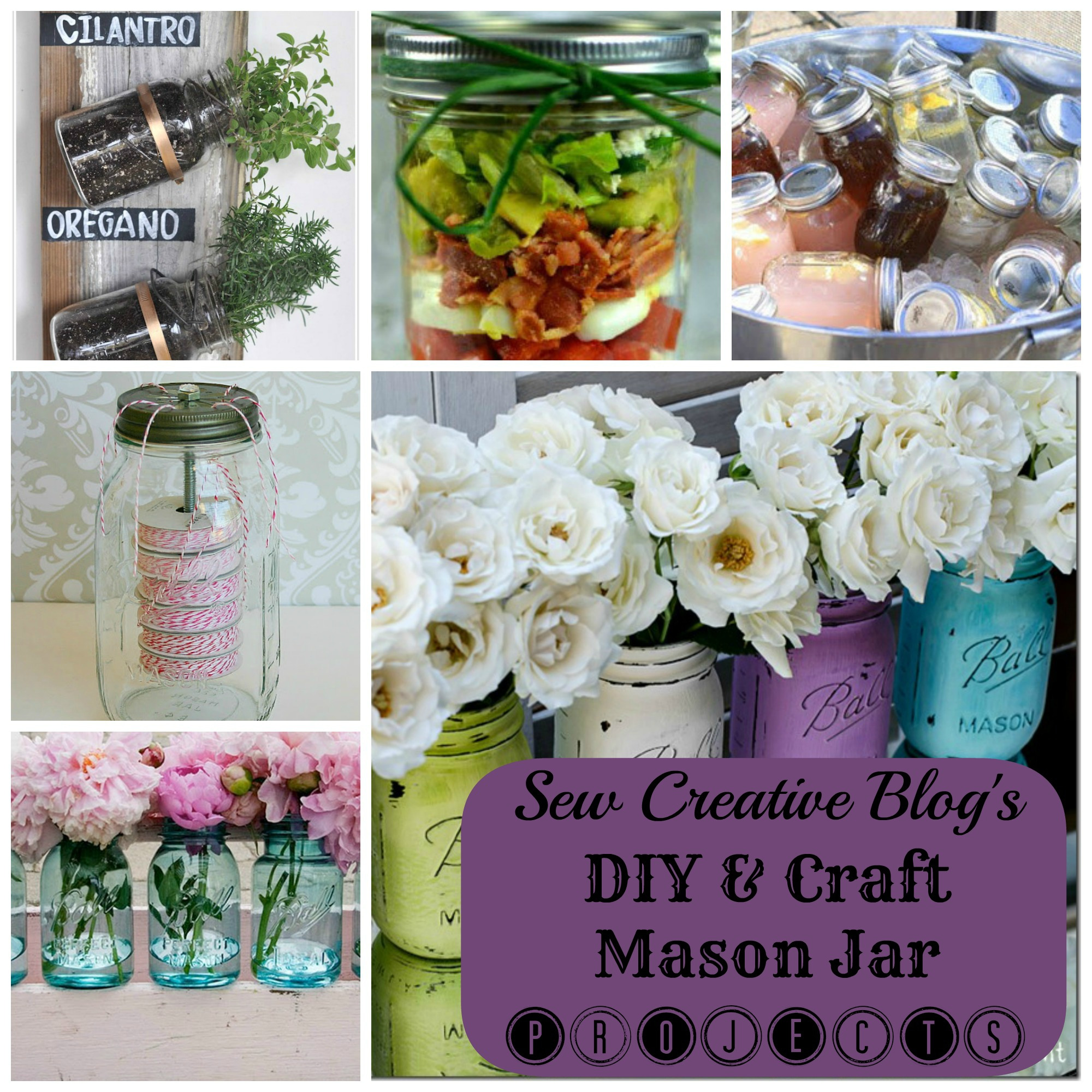 DIY and Craft Mason Jar Projects From Sew Creative