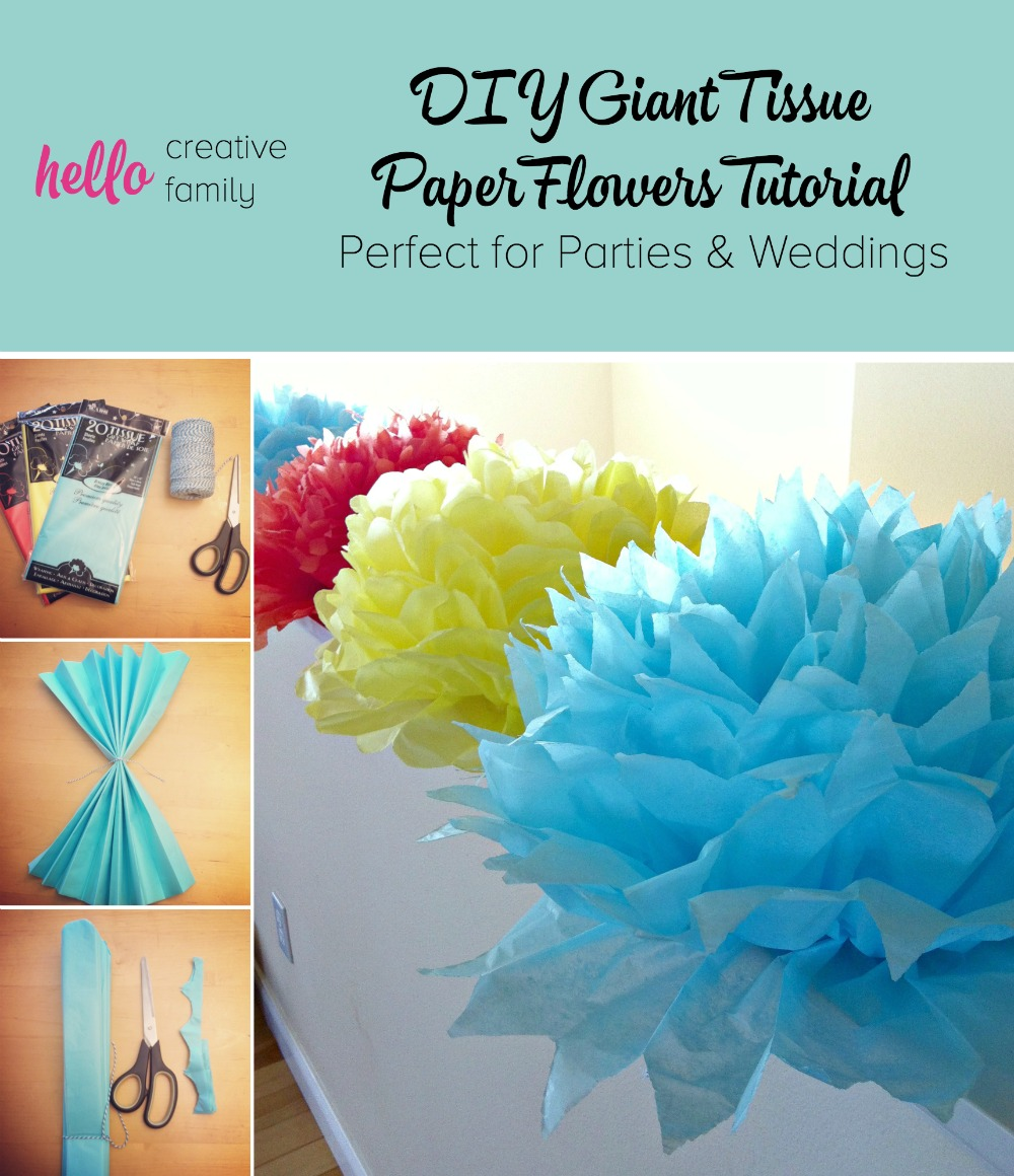 Tutorial how to make diy giant tissue paper flowers hello learn to make diy giant tissue paper flowers in minutes for 50 cents a flower with solutioingenieria Images