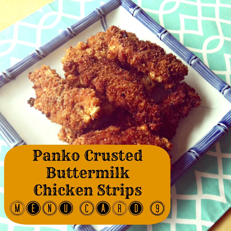 Panko Crusted Chicken Strip Menu Meal Planning Card