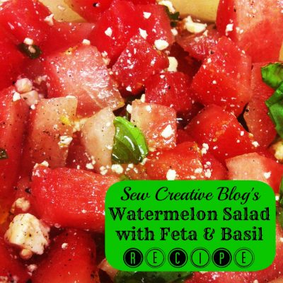 Recipe- Watermelon Salad with Feta and Basil