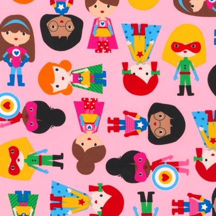 Ann Kelle Super Kids Adventure fabric for Robert Kaufman