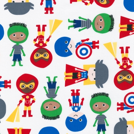 Ann Kelle Super Kids Primary 2 Boys fabric for Robert Kaufman