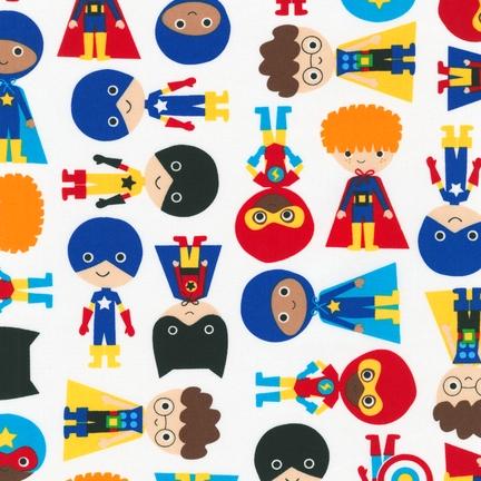 Ann Kelle Super Kids Primary Boys fabric for Robert Kaufman