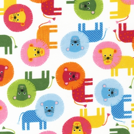 Ann Kelle Urban Zoologie Sweet Lions fabric for Robert Kaufman