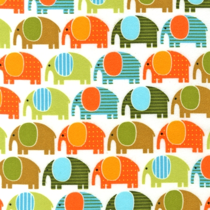 Ann Kelle Urban Zoologie Wild Elephants fabric for Robert Kaufman