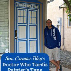 Doctor Who Painters Tape Tardis Front Door Decor