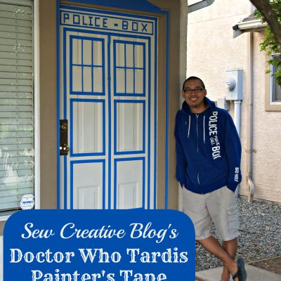 Doctor Who Painters Tape Tardis Front Door Decor