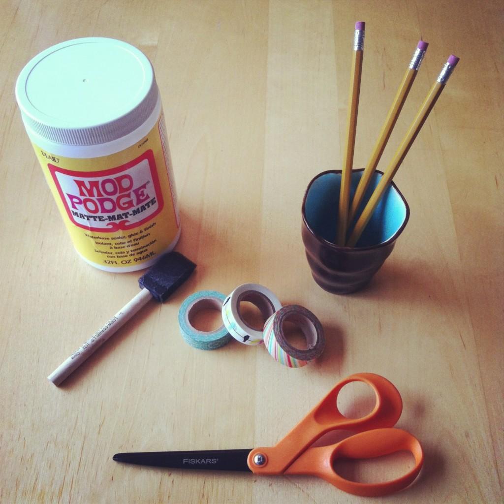Mod Podge Washi Tape Pencil Tutorial that won't peel 2