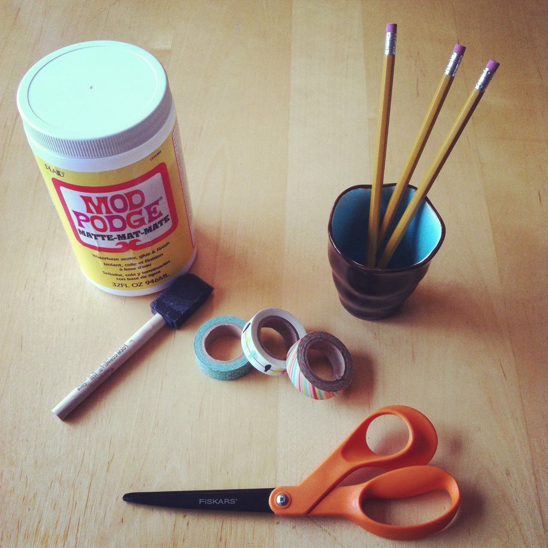 Amato Mod Podge Washi Tape Pencils That Won't Peel Tutorial - Hello  VA49