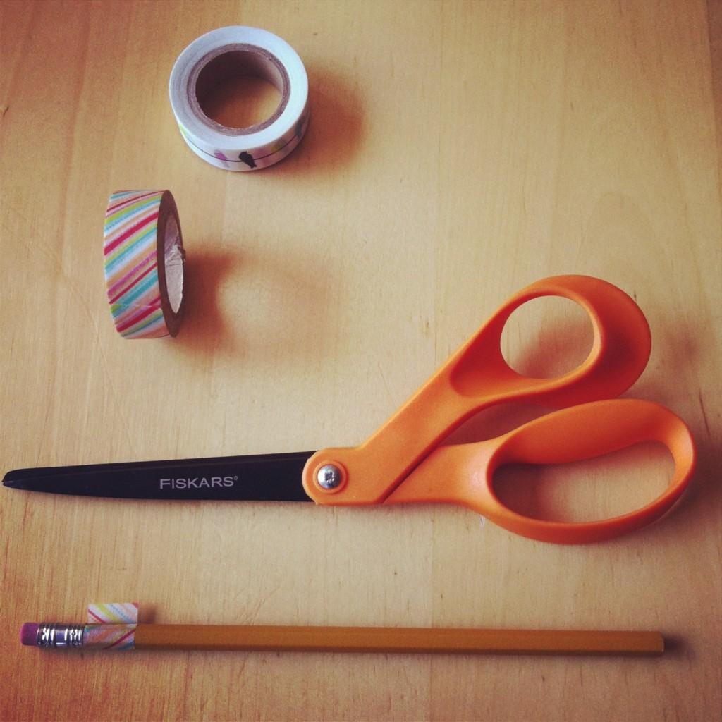 Mod Podge Washi Tape Pencil Tutorial that won't peel 3
