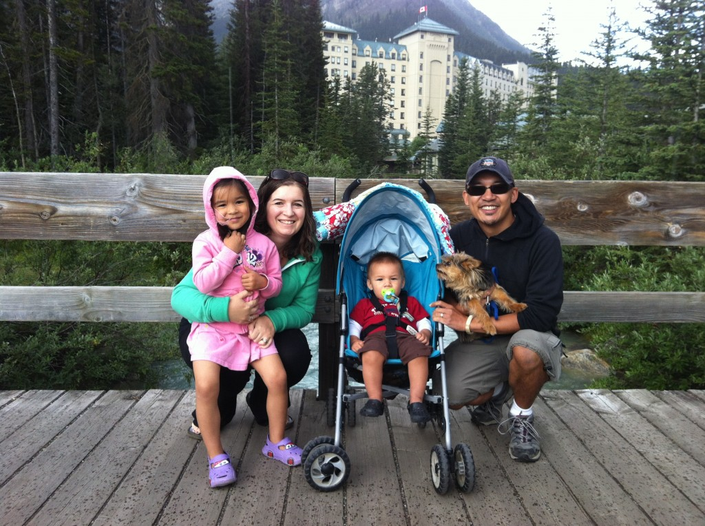 Sew Creative Family Roadtrip Vancouver to Calgary Lake Louise Family Photo