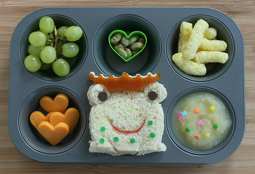 Frog Prince Muffin Tin Lunch