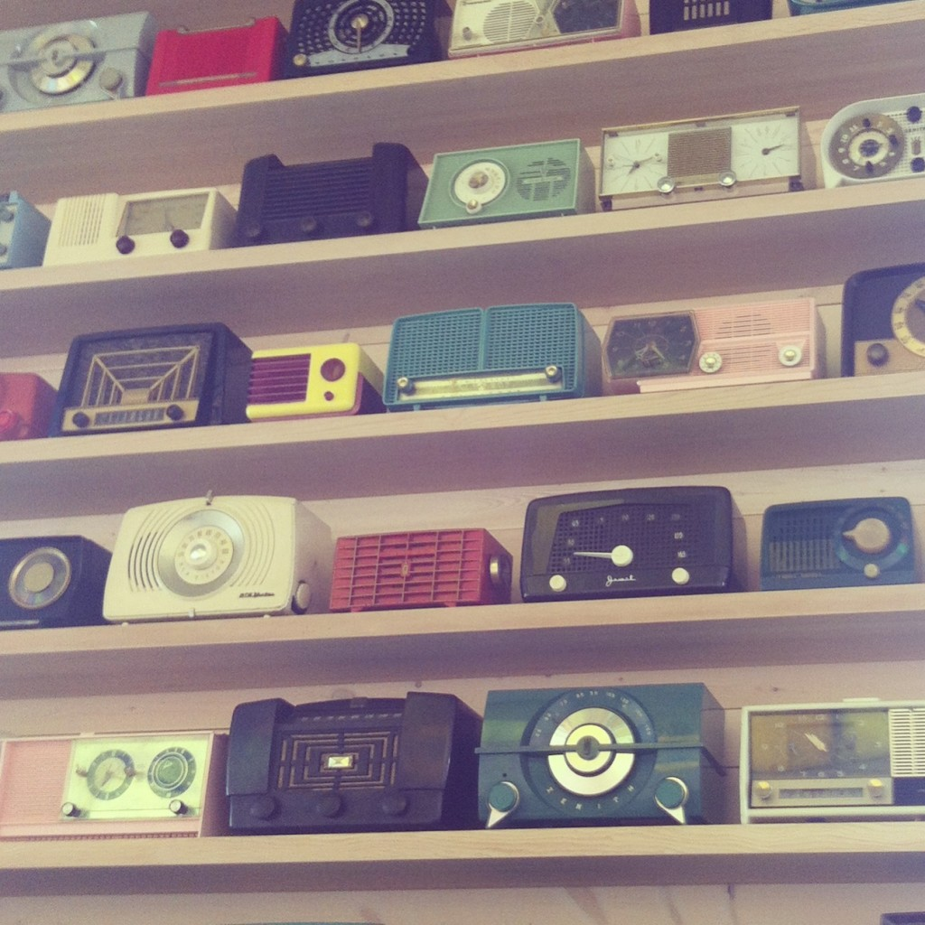 Photo of Vintage Radios from Dale Chihulys Restaurant at The Glass House