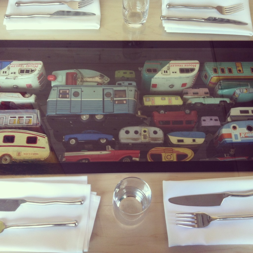 Photo of Vintage Trailer Toys from Dale Chihulys Restaurant at The Glass House