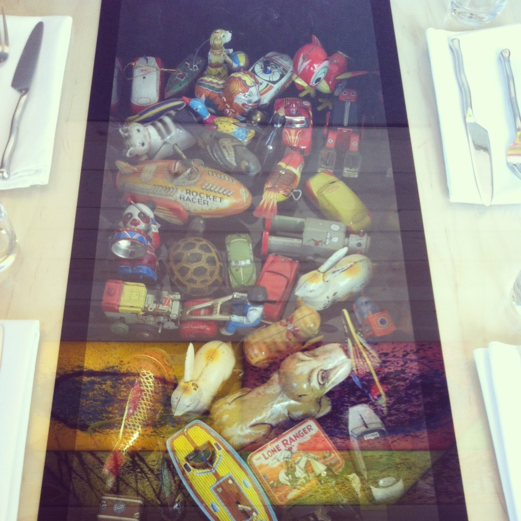 Photo of Vintage Windup Toys from Dale Chihulys Restaurant at The Glass House