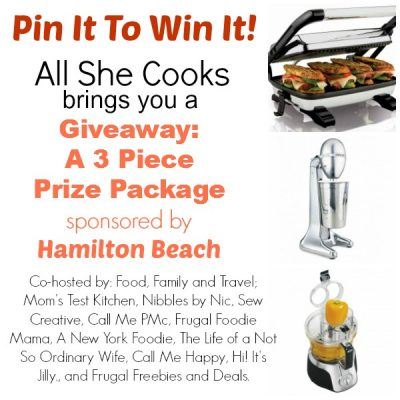Wonderful Food Link Party & Hamilton Beach Giveaway
