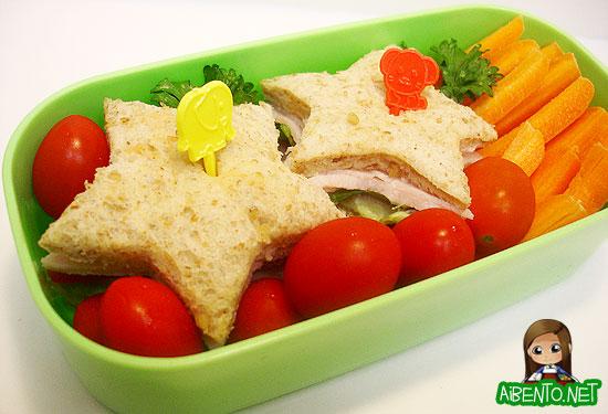 Star Sandwich Bento