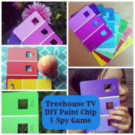 Treehouse TV DIY Paint Chip I-Spy Game